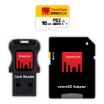 Card Memorie 16gb Strontium Class 10 cu adaptor si cititor card