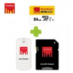 Card Memorie 64gb Strontium Class 10 cu adaptor si cititor card